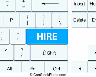 Hire cyan blue keyboard button
