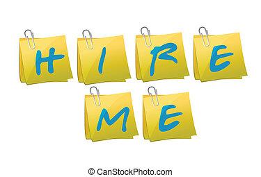 hire me post message illustration design