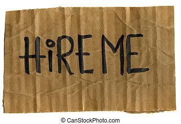 hire, mig, -, karton, tegn