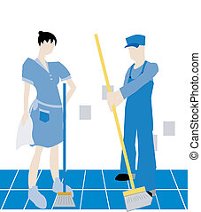 Hired Help - Housekeeping Illustration