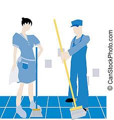 Hired Help - Housekeeping Illustration