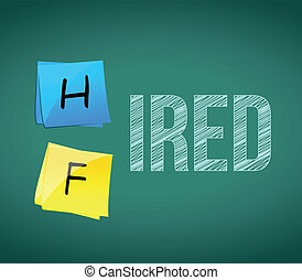 hired or fired illustration design
