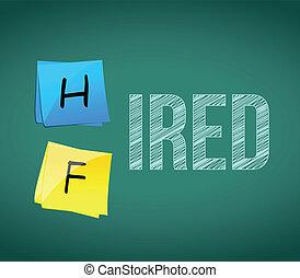 hired or fired illustration design