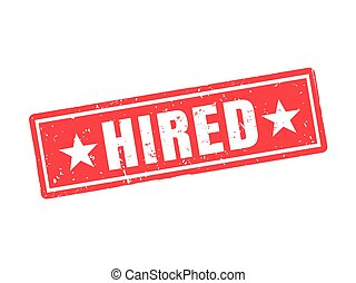 hired red stamp style