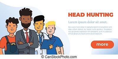 Hiring and Recruitment Design Poster. Vector Illustration.