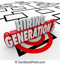 Hiring Generation Z Young People Employees Workers Org Chart
