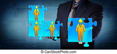 Hiring Manager Completing A Business Team