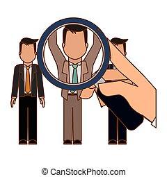 hiring process human resources icon image