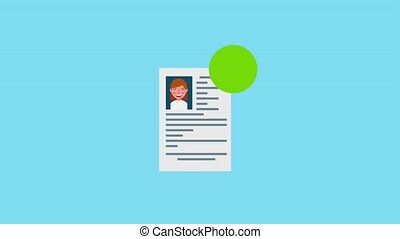 hiring process recruitment selection people animation hd