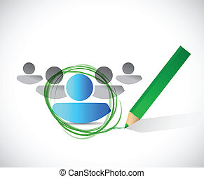 hiring selection concept illustration design over a white background