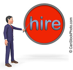 Hiring Sign Shows Online Hire Jobs 3d Rendering
