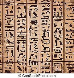 hi?roglieven, versieringen, egyptisch