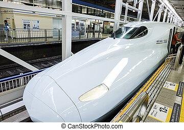 HIROSHIMA, JAPAN - NOVEMBER 13: Shinkansen in hiroshima, Japan o