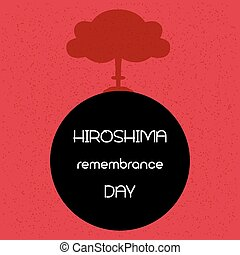 Hiroshima remembrance day. Vector illustration.