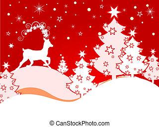 hirsch, weihnachten