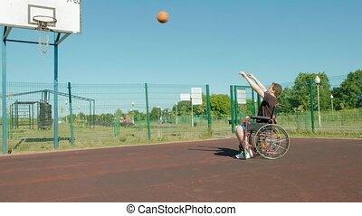 his, игры, инвалидная коляска, воздух, отключен, баскетбол, ...