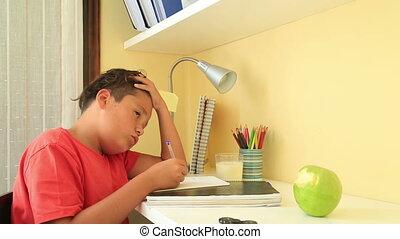 his, мальчик, домашнее задание, школа
