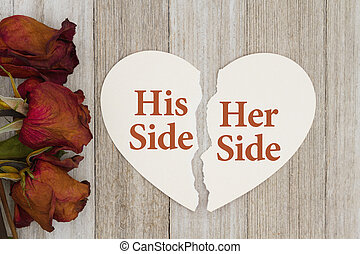 His and her side of divorce