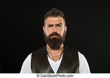 Magnificent His Long Beard Works Well Bearded Man With Stylish Mustache And Natural Hairstyles Runnerswayorg