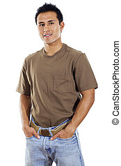 hispânico, adulto jovem