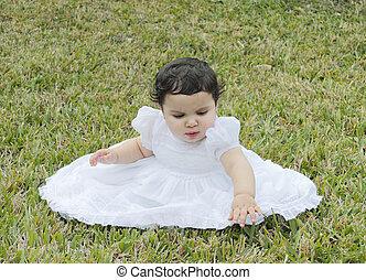Hispanic Baby in the Grass 2