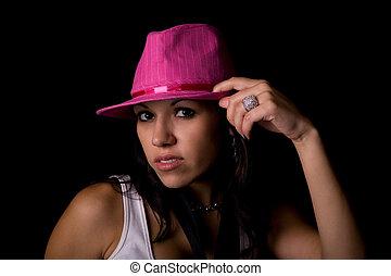 Hispanic Beauty on Black