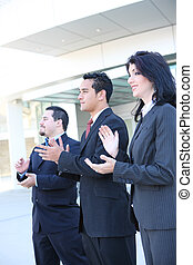 Hispanic Business Team Clapping