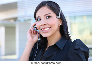 Hispanic Business Woman on Phone