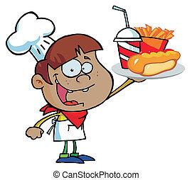 Hispanic Chef Boy