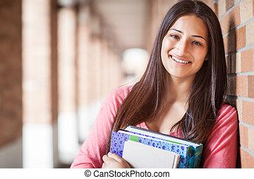 Hispanic college student - A portrait of a hispanic college...