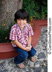 hispanic, förtjusande, pojke