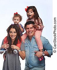 Hispanic family of four