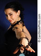 Hispanic fashion woman