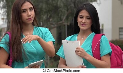 Hispanic Female Nursing Students