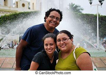 Hispanic friends