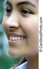 Hispanic Girl Face