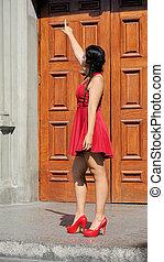 Hispanic Girl Pointing