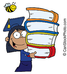 Hispanic Graduate School Girl