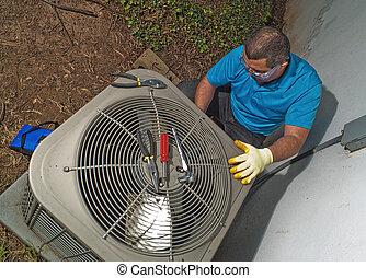 hispanic, klimatyzacja, technik