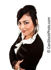 hispanic kobieta, ładny