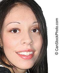 hispanic kobieta, młody
