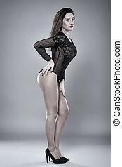 Hispanic lingerie model