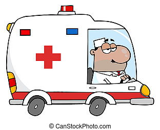 Hispanic Male Ambulance Driver