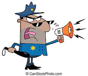 Hispanic Male Police Officer