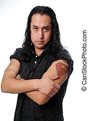 Hispanic Man Posing
