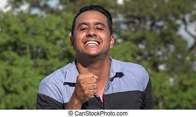 Hispanic Man Singing