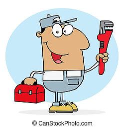 Hispanic Plumber Man