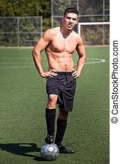 Hispanic soccer or football player