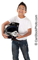 Hispanic Teen Racer