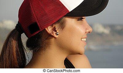 Hispanic Teenage Girl Sporty